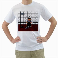 Baby In The Jail Mens  T Shirt (white) by Contest1632326