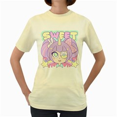 Sweet  Womens  T Shirt (yellow) by Contest1422604