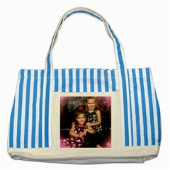 Candence And Abbey   Copy Blue Striped Tote Bag by tammystotesandtreasures