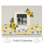 Wall Calendar 11 x 8.5 - Happiness - Wall Calendar 11  x 8.5  (12-Months)