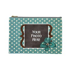 Thoughts Of Friendship Large Cosmetic Bag 2 By Lisa Minor   Cosmetic Bag (large)   2n0cypburobp   Www Artscow Com Front