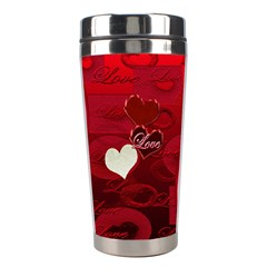Red Love Stainless Travel Tumbler By Ellan   Stainless Steel Travel Tumbler   K24n8g8m9e2m   Www Artscow Com Center