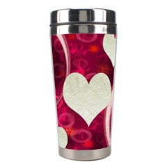 Pink Love Stainless Travel Tumbler By Ellan   Stainless Steel Travel Tumbler   Rq6rxvxxsmyq   Www Artscow Com Center