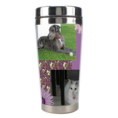Purple Stainless Steel Travel Tumbler By Deborah   Stainless Steel Travel Tumbler   Ngz9yn08asvk   Www Artscow Com Left