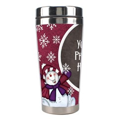 5 Little Snowman Tumbler By Lisa Minor   Stainless Steel Travel Tumbler   Lq85gt7ff5oe   Www Artscow Com Left