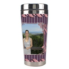 Pin Swirl Stainless Steel Travel Tumbler By Deborah   Stainless Steel Travel Tumbler   G5o0zpuh999a   Www Artscow Com Left