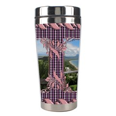 Pin Swirl Stainless Steel Travel Tumbler By Deborah   Stainless Steel Travel Tumbler   G5o0zpuh999a   Www Artscow Com Center