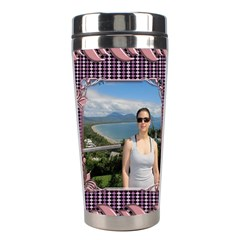 Pin Swirl Stainless Steel Travel Tumbler By Deborah   Stainless Steel Travel Tumbler   G5o0zpuh999a   Www Artscow Com Right