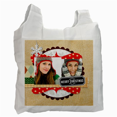 Merry Christmas By Merry Christmas   Recycle Bag (one Side)   Kj4lntid184b   Www Artscow Com Front