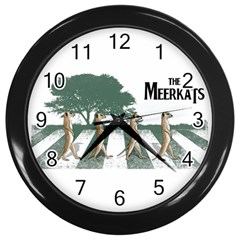 The Meerkats Wall Clock (black) by Contest1732250