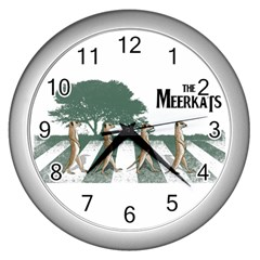The Meerkats Wall Clock (silver) by Contest1732250