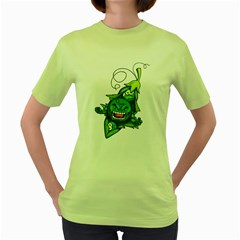 peasmash Womens  T-shirt (Green) by Contest1732250