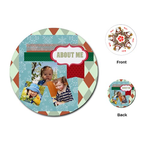 Kids By Kids   Playing Cards (round)   Osofpwnfpgzv   Www Artscow Com Front