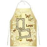 Fancy gold Live Laugh Love  Floral full print apron