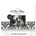 Wall Calendar 8.5 x 6 - B/W - A Love Story - Wall Calendar 8.5  x 6