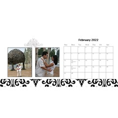 Desktop Calendar 11  X 5    B/w A Love Story By Jennyl   Desktop Calendar 11  X 5    3xug9eb7zpbq   Www Artscow Com Feb 2016