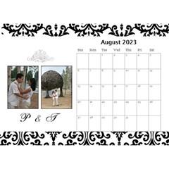 Desktop Calendar 8 5  X 6    B/w   A Love Story By Jennyl   Desktop Calendar 8 5  X 6    A21m1zrs3nvp   Www Artscow Com Aug 2016