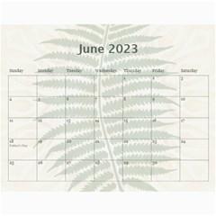 Nature Green 12 Month Wall Calendar By Lil    Wall Calendar 11  X 8 5  (12 Months)   D3oxkd5706s5   Www Artscow Com Jun 2015