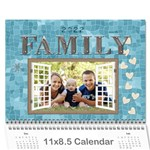 Family Pretty 12 month Calendar - Wall Calendar 11  x 8.5  (12-Months)