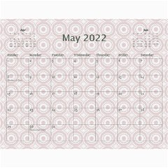 Pink And Blue Calendar By Lil    Wall Calendar 11  X 8 5  (12 Months)   Pvdbgtzm50zl   Www Artscow Com May 2015