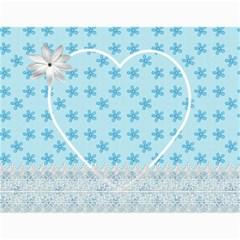 Pink And Blue Calendar By Lil    Wall Calendar 11  X 8 5  (12 Months)   Pvdbgtzm50zl   Www Artscow Com Month