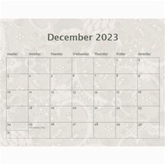 Pretty Lace Calendar (12 Month) By Lil    Wall Calendar 11  X 8 5  (12 Months)   0xg0184rf6z0   Www Artscow Com Dec 2015