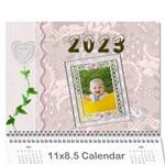Pretty Lace Pink Calendar (12 Month) - Wall Calendar 11  x 8.5  (12-Months)