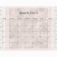 Pretty Lace Pink Calendar (12 Month) By Lil    Wall Calendar 11  X 8 5  (12 Months)   9r2uz5pd7fy8   Www Artscow Com Mar 2015