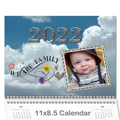 Family Sunset Calendar (12 Month) By Lil    Wall Calendar 11  X 8 5  (12 Months)   6i0iwyz2ztko   Www Artscow Com Cover
