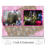 Pink Choc 2016 wall Calendar (any year) - Wall Calendar 11  x 8.5  (12-Months)