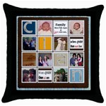 rt - Throw Pillow Case (Black)