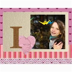 Love By Ki Ki   Wall Calendar 11  X 8 5  (12 Months)   1hi08wad0u22   Www Artscow Com Month