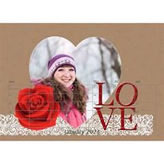 Love By Ki Ki   Desktop Calendar 8 5  X 6    Rf1lberr7ii7   Www Artscow Com Jan 2014