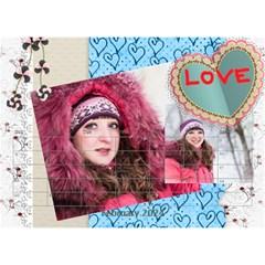 Love By Ki Ki   Desktop Calendar 8 5  X 6    Rf1lberr7ii7   Www Artscow Com Feb 2015