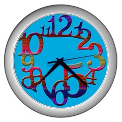 Wild Numbers Wall Clock (silver) by Contest993860