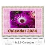 Pink Choc Wall Calendar 11x8.5 - Wall Calendar 11  x 8.5  (12-Months)