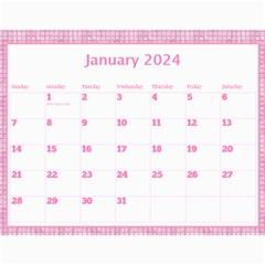 Pink Choc Wall Calendar 11x8 5 By Deborah   Wall Calendar 11  X 8 5  (12 Months)   L9nvb0rf0ttj   Www Artscow Com Jan 2017