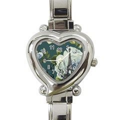 Blue Roses Vintage Paris Eiffel Tower Floral Fashion Decor Heart Italian Charm Watch  by chicelegantboutique
