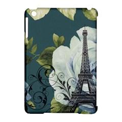 Blue Roses Vintage Paris Eiffel Tower Floral Fashion Decor Apple Ipad Mini Hardshell Case (compatible With Smart Cover) by chicelegantboutique