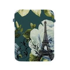 Blue Roses Vintage Paris Eiffel Tower Floral Fashion Decor Apple Ipad 2/3/4 Protective Soft Case by chicelegantboutique