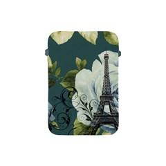Blue Roses Vintage Paris Eiffel Tower Floral Fashion Decor Apple Ipad Mini Protective Soft Case by chicelegantboutique