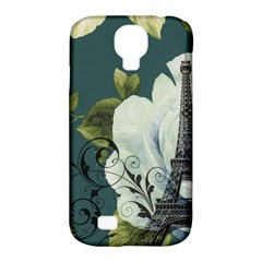 Blue Roses Vintage Paris Eiffel Tower Floral Fashion Decor Samsung Galaxy S4 Classic Hardshell Case (pc+silicone) by chicelegantboutique