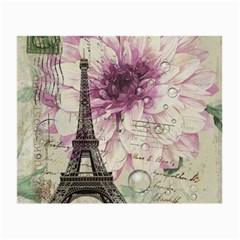 Purple Floral Vintage Paris Eiffel Tower Art Glasses Cloth (small) by chicelegantboutique