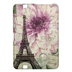 Purple Floral Vintage Paris Eiffel Tower Art Kindle Fire Hd 8 9  Hardshell Case by chicelegantboutique