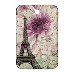 Purple Floral Vintage Paris Eiffel Tower Art Samsung Galaxy Note 8 0 N5100 Hardshell Case  by chicelegantboutique