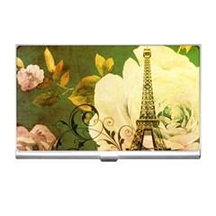 Floral Eiffel Tower Vintage French Paris Business Card Holder by chicelegantboutique