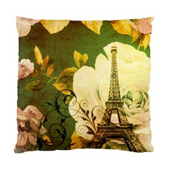 Floral Eiffel Tower Vintage French Paris Cushion Case (single Sided)