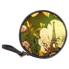 Floral Eiffel Tower Vintage French Paris Cd Wallet by chicelegantboutique