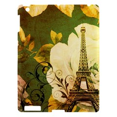 Floral Eiffel Tower Vintage French Paris Apple Ipad 3/4 Hardshell Case by chicelegantboutique