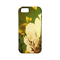 Floral Eiffel Tower Vintage French Paris Apple Iphone 5 Classic Hardshell Case (pc+silicone) by chicelegantboutique
